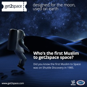 Who's the first Muslim to get2space space?