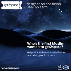 Who's the first Muslim women to get2space?