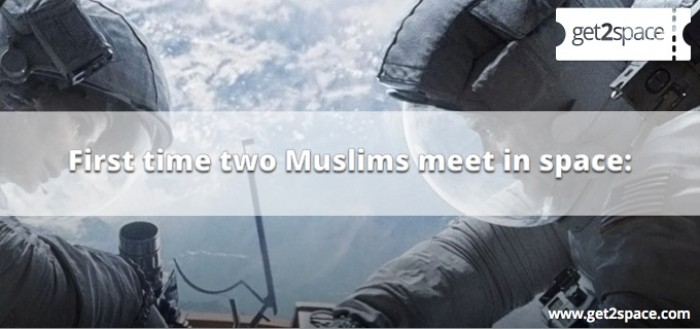 First time two Muslims meet in space