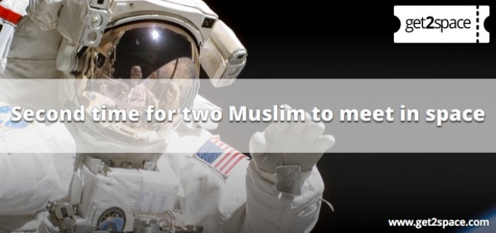 Second time for two Muslim to meet in space