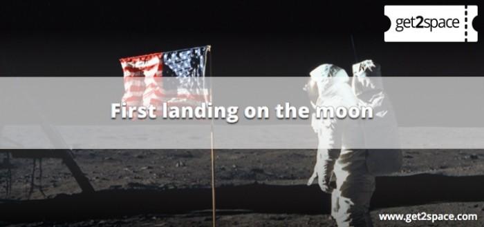 Frist landing on the moon