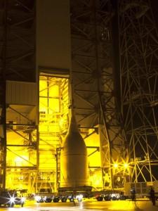 Orion arrives at KSC